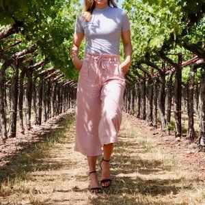 Anthropologie Pink Blythe Wide-leg Trousers